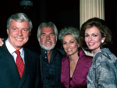 Kentucky Gov Jerry Brown, Singer Kenny Rogers and Wife Marianne, and Brown's Wife, Phyllis George