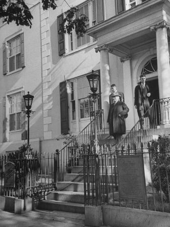 President Harry S. Truman Walking from Blair House to the White House