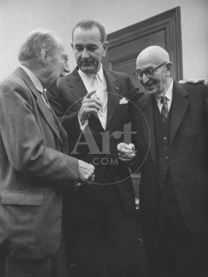 Senator Lyndon B. Johnson Talking with Senator Theodore F. Green ...