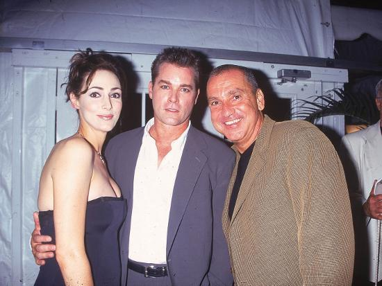 Actor Ray Liotta with Wife Michelle and Unident. Man at ...