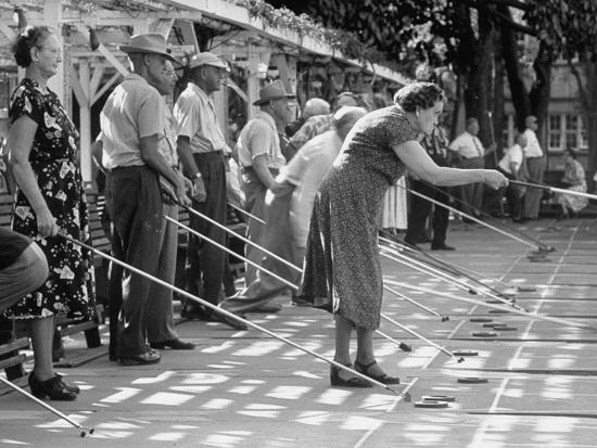 Old Age Essay Seniors Playing Shuffleboard Photographic Print At  Old Age Essay Seniors Playing Shuffleboard