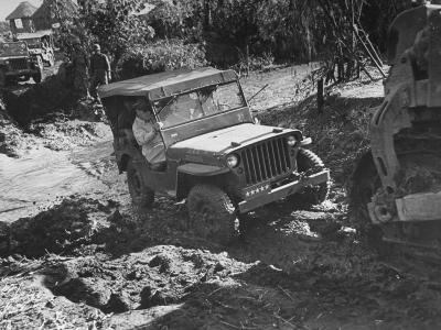 American General Douglas Macarthur Taking Tour of the Bataan Penninsula