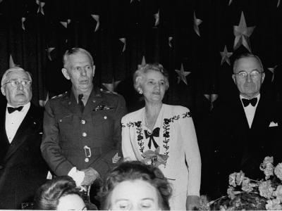 General George C. Marshall and President Harry S. Truman Attending 1000 Club Dinner
