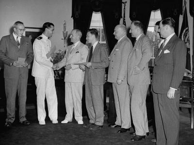 President Harry S. Truman Awarding the National Peace Treaty Contest Prizes