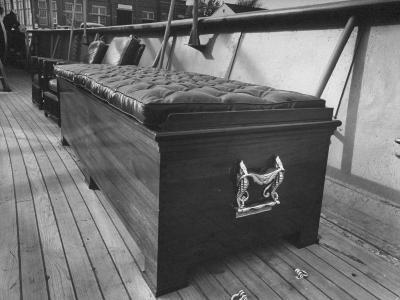 A Coffin Like Storage Chest Sitting on the Deck of President Harry S. Truman's Yacht