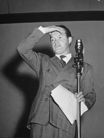 Bob Hope During Show for Soldiers During WWII