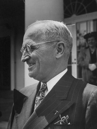 Closeup of President Harry S. Truman the Day before Celebrating His Birthday