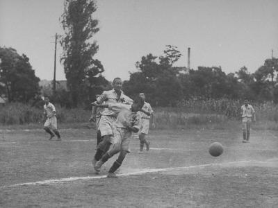 Japanese School Students Playing Soccer