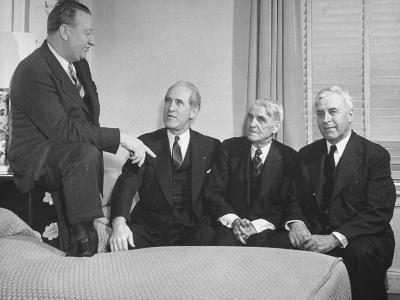 Senators Harlan J. Bushfield and Homer E. Capper with Farm Lobbyists Ralph Moore and Fred Brinkman