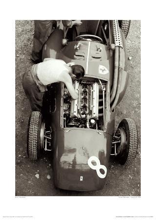 Ferrari Mechanic, French GP, 1954