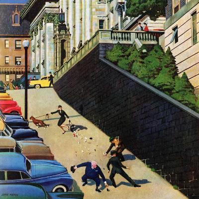 """""""Spilled Purse on Steep Hill"""", March 26, 1955"""