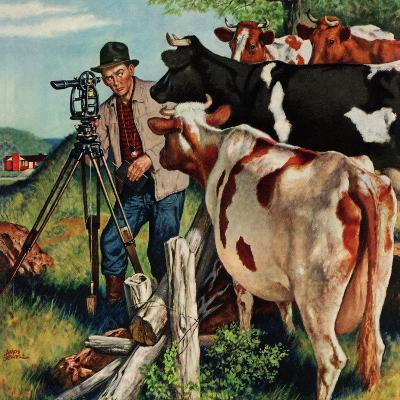 """""""Surveying the Cow Pasture"""", July 28, 1956"""
