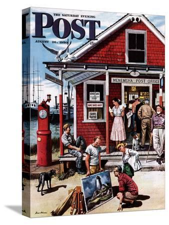 """""""Coastal Postal Office"""" Saturday Evening Post Cover, August 26, 1950"""