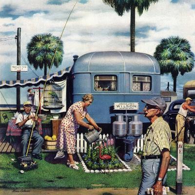"""""""Trailer Park Garden"""", February 2, 1952"""
