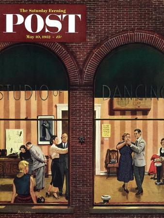 """Dancing Class"" Saturday Evening Post Cover, May 10, 1952"