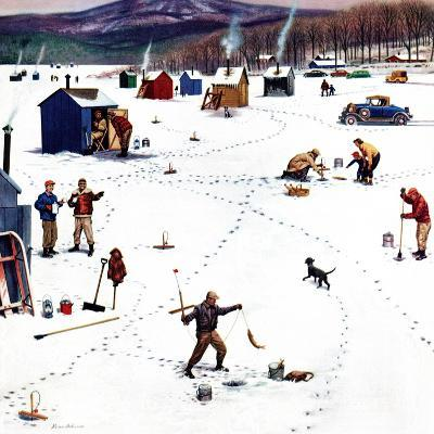 """Ice Fishing Camp"", January 12, 1957"