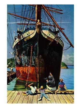 """""""Big Ship at Dock"""", November 5, 1955"""