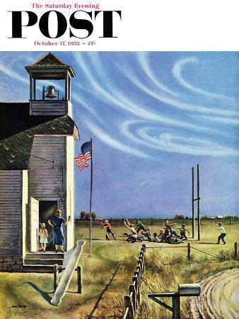 """Endl of Recess"" Saturday Evening Post Cover, October 17, 1953"