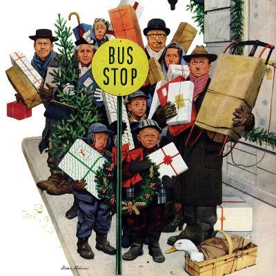 """Bus Stop at Christmas"", December 13, 1952"