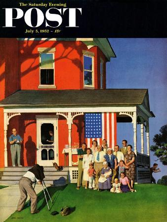 """Family Portrait on the Fourth"" Saturday Evening Post Cover, July 5, 1952"