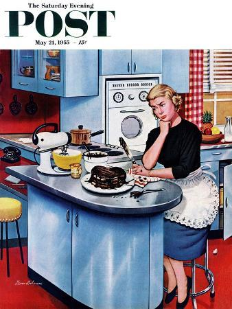 """First Cake"" Saturday Evening Post Cover, May 21, 1955"