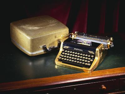 A Royal Quiet De Lux Portable Typewriter, with Gold Plated Body and Fittings, Owned by Ian Fleming