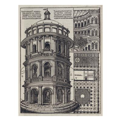 Roman Amphi-Theatre from 'De Architectura'. Reprinted and Translated by Como