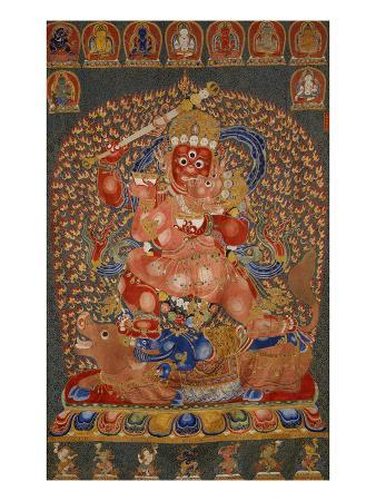 A Fine, and Rare and Important Large Imperial Embroidered Silk Thanka