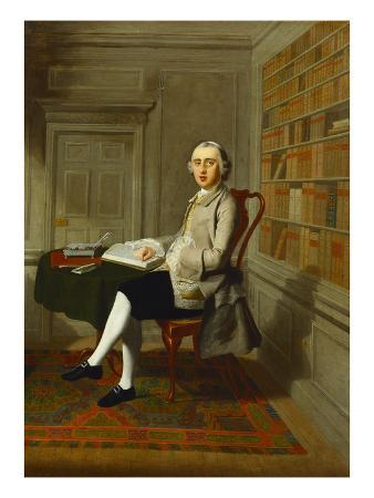 Portrait of Serjeant Richard Leigh (1772), Seated at a Table