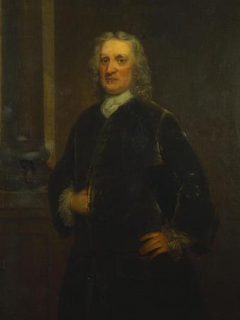 Portrait of Sir Isaac Newton, Aged 80, Three-Quarter Length, in a Grey Coat