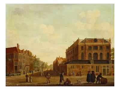 View of Portuguese Synagogue in Amsterdam with Figures in the Foreground