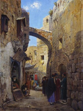 Streetscene in Jerusalem; Strassenscene in Jerusalem