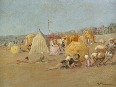 Afternoon on the Beach at Carolles; L'Apres-Midi Sur La Plage De Carolles
