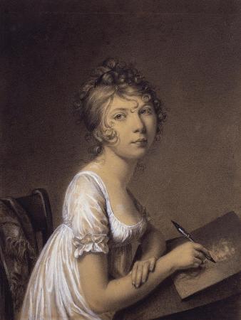 A Woman Drawing a Self-Portrait