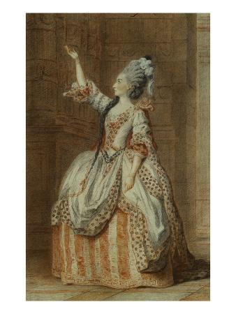 Portrait of Mademoiselle Sainval on Stage