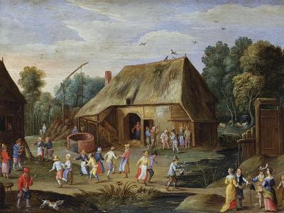 Gentry at a Peasant Dance in a Farmyard