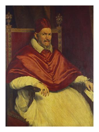 Portrait of Pope Innocent X, Seated Holding a Letter