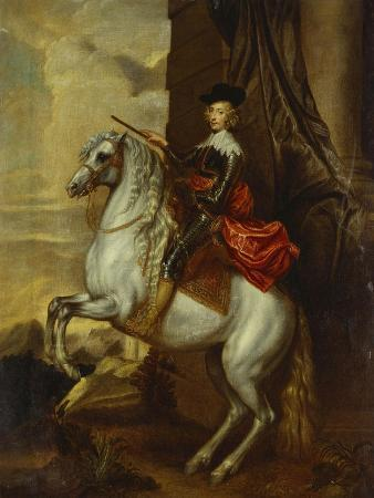 Equestrian Portrait of the Cardinal-Infante Ferdinand of Spain (1609-1641), Wearing Armour and…