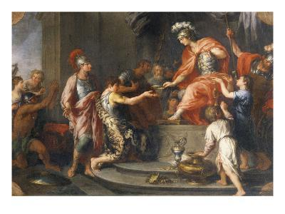 Liberality: Alexander the Great Rewarding His Captains
