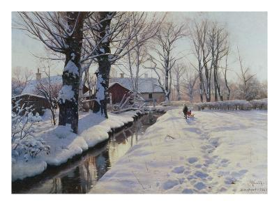 A Wooded Winter Landscape, Brondbyvester