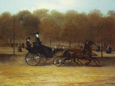 A Lady Driving in Hyde Park