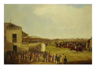 Col. Peels's 'The Bey of Algiers', Nat Flatman Up, Winning the 1840 Chester Cup
