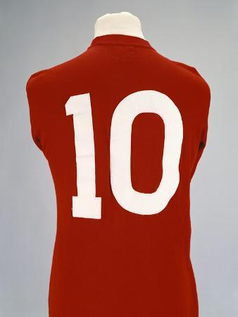 A Red England World Cup Final International Shirt, No.10, Worn by Geoff Hurst in 1966 World Cup…