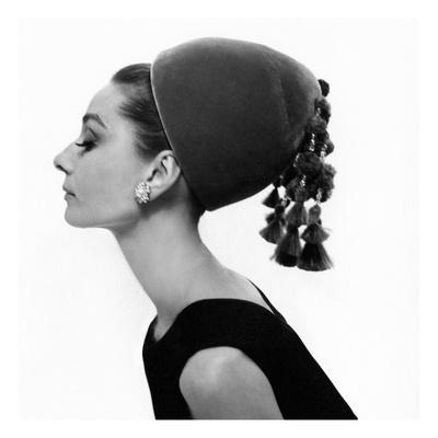 Vogue - August 1964 - Audrey Hepburn in Velvet Hat