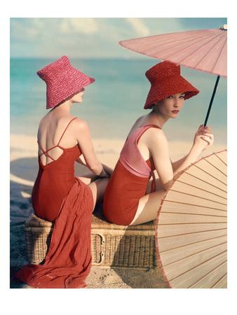 Vogue - January 1959 - Under Parasols