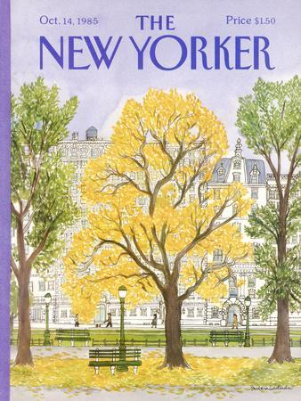 The New Yorker Cover - October 14, 1985