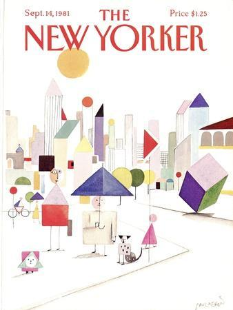 The New Yorker Cover - September 14, 1981