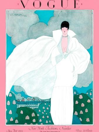 Vogue Cover - May 1925 - Spring Breeze