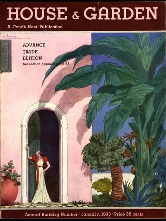 House & Garden Cover - January 1933