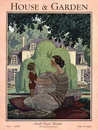 House & Garden Cover - July 1928